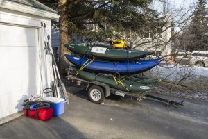 Boats loaded and ready by mid-morning